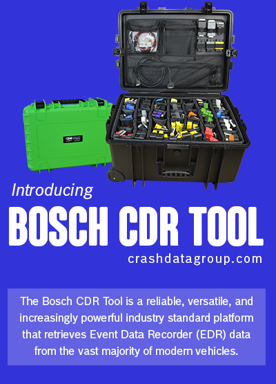 Bosch CDR Tool for Accident Reconstruction